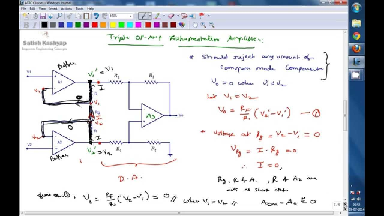 Instrumentation amplifier a conceptual lecture limitaitons of instrumentation amplifier a conceptual lecture limitaitons of differential amplifier youtube pooptronica