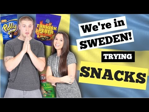 Americans trying Swedish snacks in Sweden