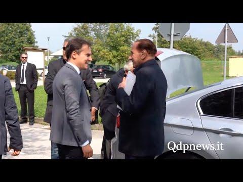 Visita a sorpresa di Berlusconi a Pieve di Soligo: la partenza in elicottero dalla Nostra Famiglia