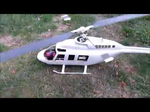 JET RANGER model helicopter 1,000 size... FLYING!!!