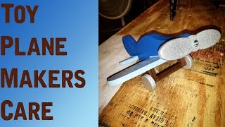 Wooden Toy Plane - Makerscare! - Shieldscraft