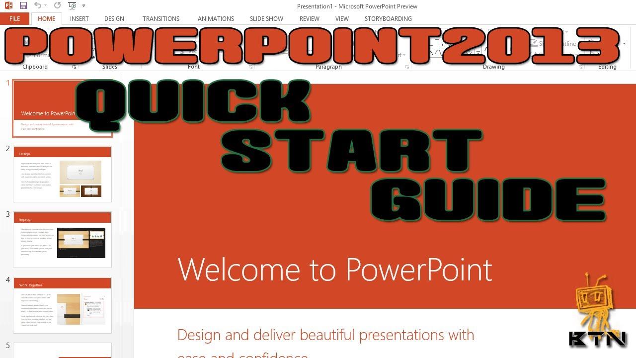 Microsoft Office 2013 - PowerPoint 2013 - Quick Start ...