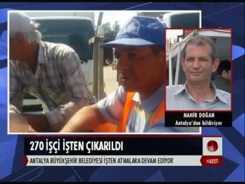 Antalya Büyük Şehir Belediyesi işten atmalara devam ediyor
