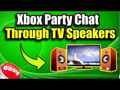 How To Get Xbox One Party Chat Through TV Speakers Or Both! (Best Method)