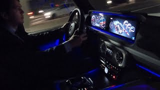 2019 Mercedes G63 AMG | Night Drive Review ROUGH Sound G Wagon Acceleration