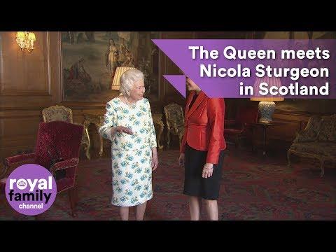The Queen meets Nicola Sturgeon in Scotland