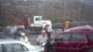 Accidente en la autopista Mexico-Queretaro 13 de abril del año 2009