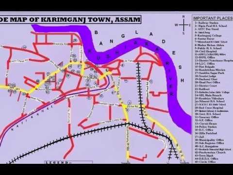 A GUIDE MAP OF KARIMGANJ TOWN, ASSAM