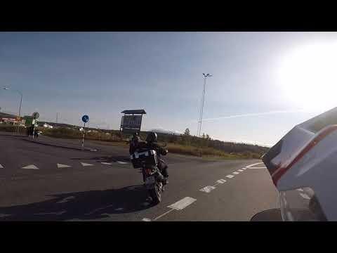 Africa Twin crossing borders Norway / Sweden