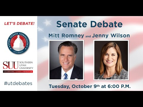 U.S. Senate Debate with Mitt Romney and Jenny Wilson at Southern Utah University