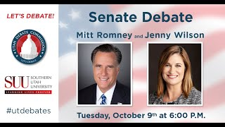U.S. Senate Debate with Mitt Romney and Jenny Wilson at Southern Utah University