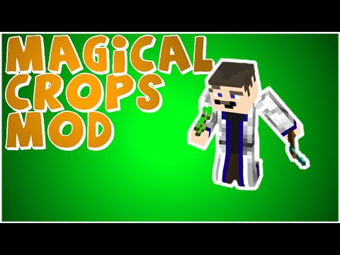 Minecraft: MAGICAL CROPS MOD Grow your diamonds and anything else!