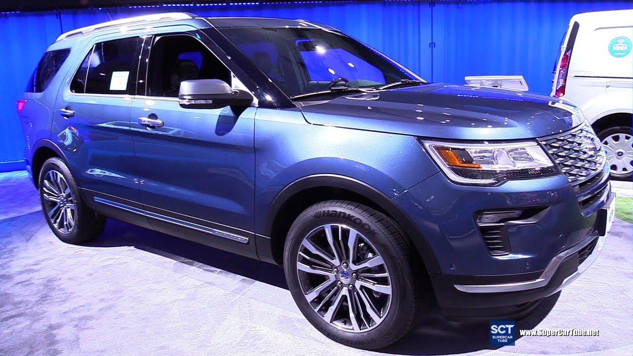 ford explorer platinum exterior  interior walkaround  la auto show youtube