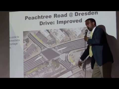 Proposed improvements to Peachtree Road-Dresden Drive intersection