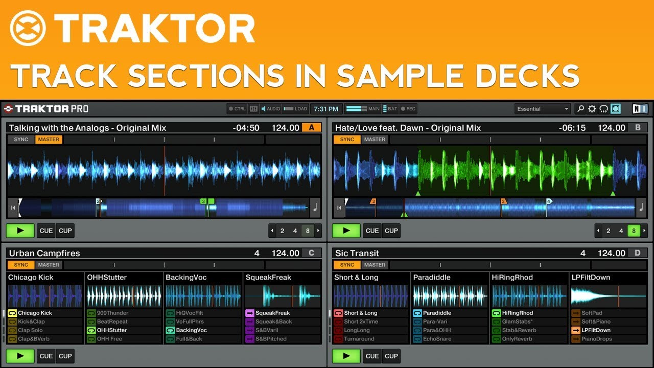 Traktor Pro 2 Tutorial: How to Place Tracks in Sample Decks - YouTube