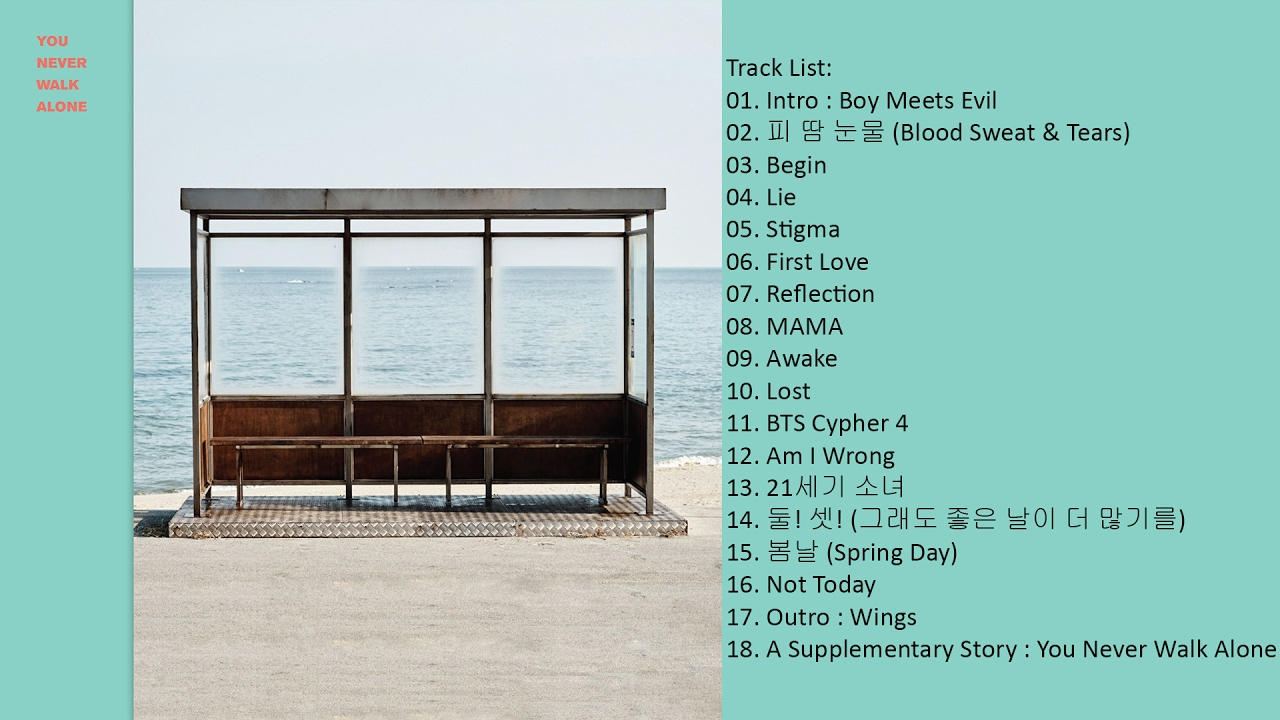 Image result for you never walk alone bts album