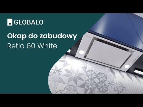 Okap do zabudowy GLOBALO Retio 60.1 White | Ciche i wydajne okapy GLOBALO