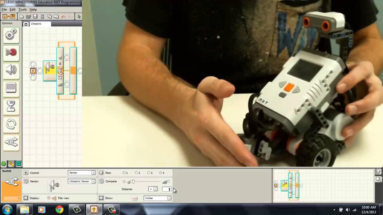 how to use ultrasonic sensor lego mindstorm