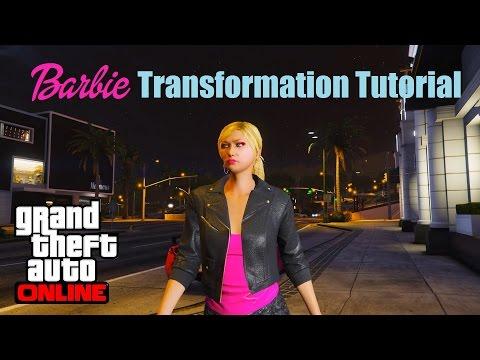 Barbie Transformation Tutorial in GTA 5 (Online) - 1080p 60fps