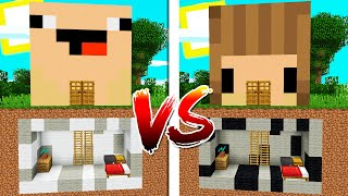 BASE SECRETA DE BEBE NOOB vs BASE SECRETA DE NOOBSI 😂😱 MINECRAFT