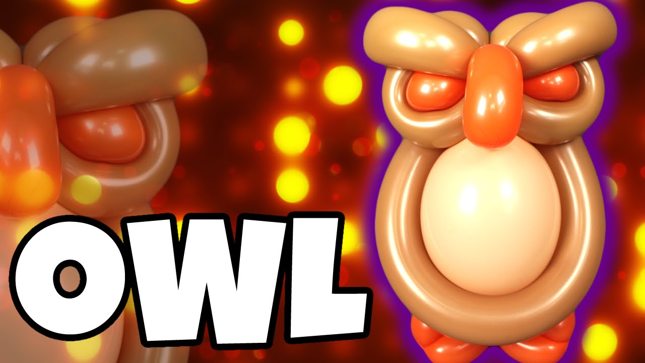 Completely new OWL Balloon Animal Tutorial with Holly & Cody Williams! - YouTube LK39