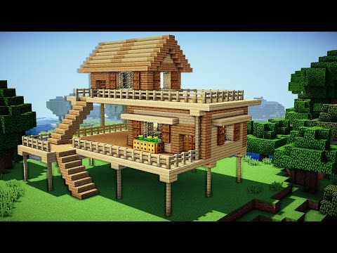Minecraft Starter House Tutorial How To Build A House In Minecraft Easy Youtube