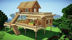Minecraft: Starter House Tutorial - How to Build a House in Minecraft / Easy /