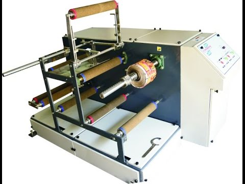 online inkjet printing on - label film roll winder rewinder doctoring machine