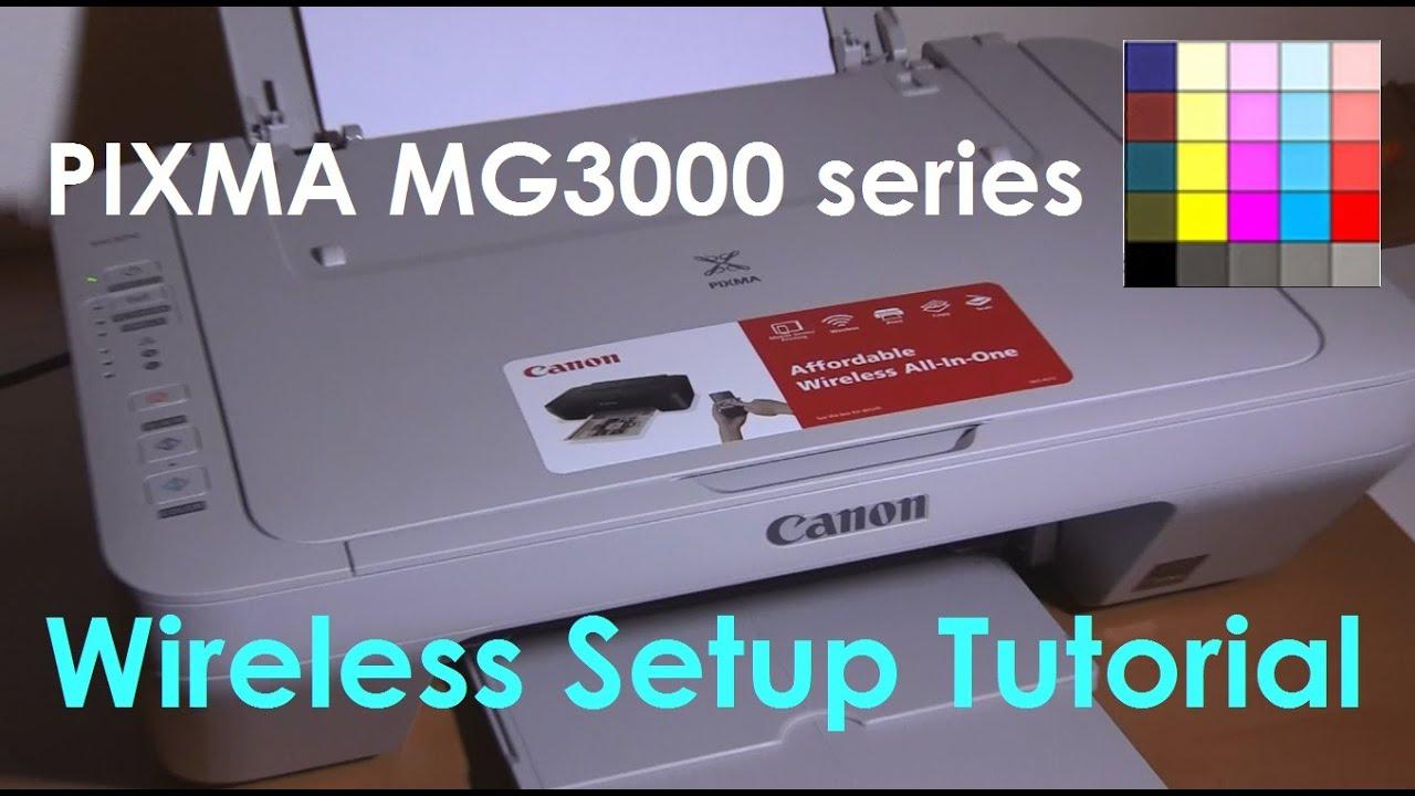 Pixma Mg3050 Mg3040 Mg3020 E474 Series Wifi Setup Part3 Youtube