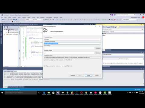 How to create a visual studio solution template (multi project)