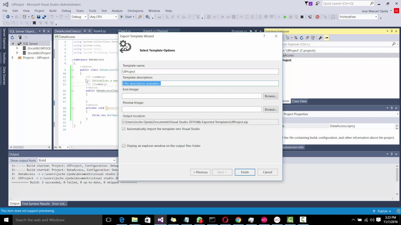 How to create a visual studio solution template multi project how to create a visual studio solution template multi project maxwellsz