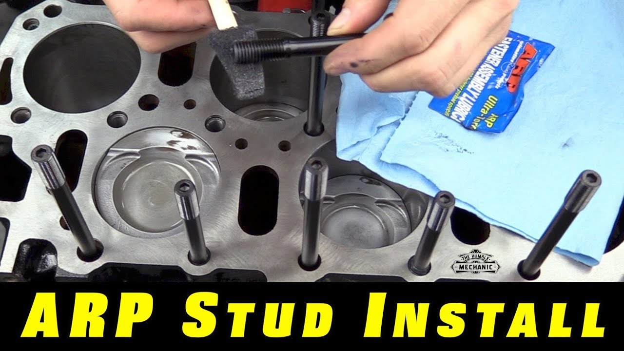 hight resolution of the easy way to install arp head studs