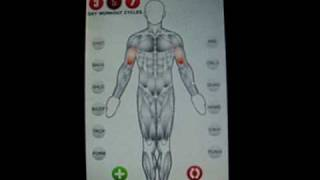 Best Free Workout Bodybuilding Tracker for Iphone Ipod touch App easy Click visual touch