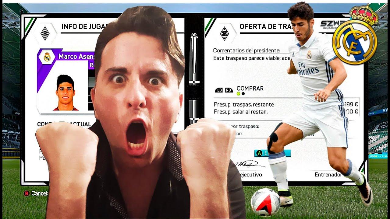 PAGO UNA MILLONADA POR MARCO ASENSIO!! | FIFA 16 modo carrera #47 ...
