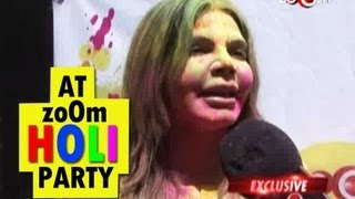 Rakhi Sawant at zoOm Holi party