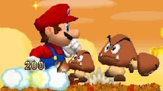 Newer Super Mario Bros DS Walkthrough - World 1 - Goldleaf Plains
