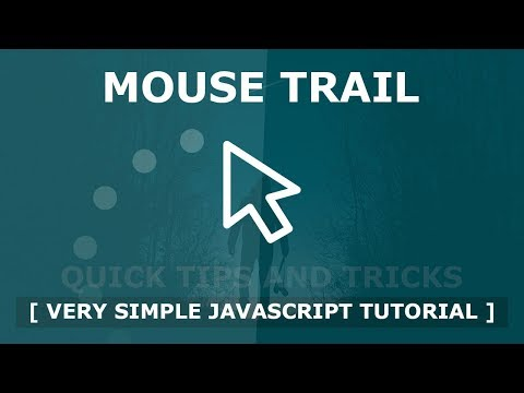 Mouse Trail Using Html CSS And Javascript - Javascript Mousemove