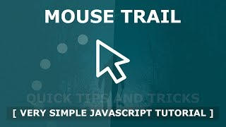 Mouse Trail Using Html CSS And Javascript - Javascript Mousemove Cursor Trail Effects