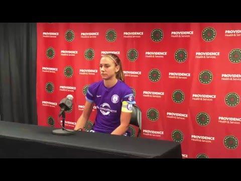 Alex Morgan Post-Game Interview   Portland Thorns FC 2, Orlando Pride 1 4.17.16