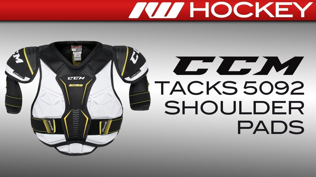 574879c674d CCM Tacks 5092 Shoulder Pad Review - YouTube
