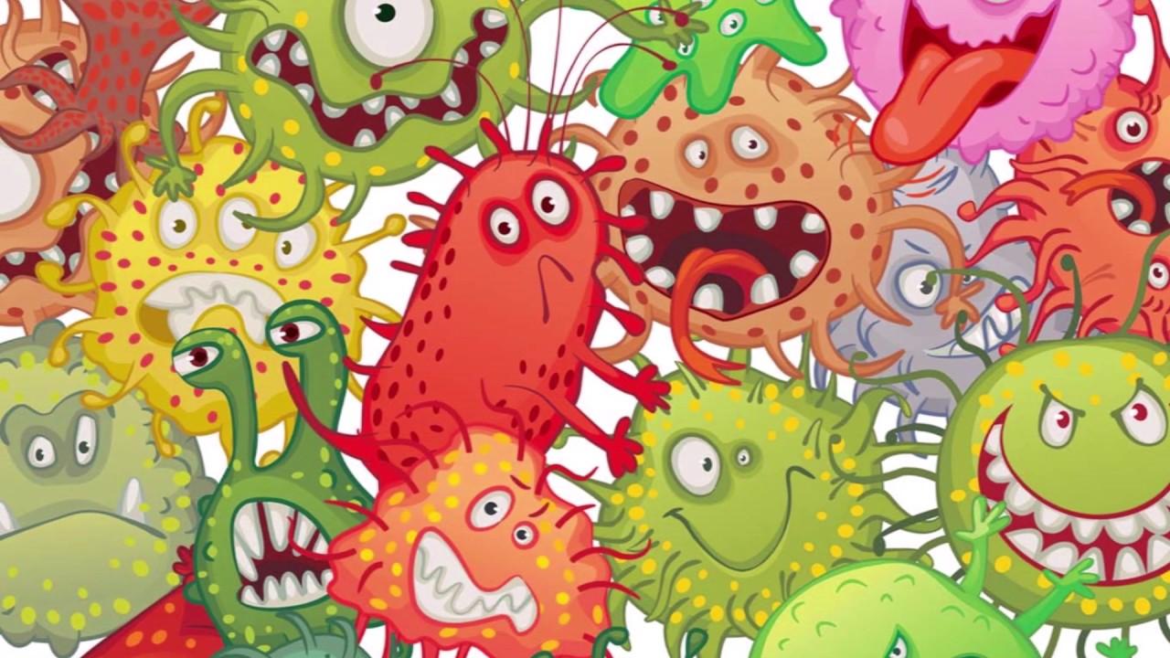 Микробы веселые картинки