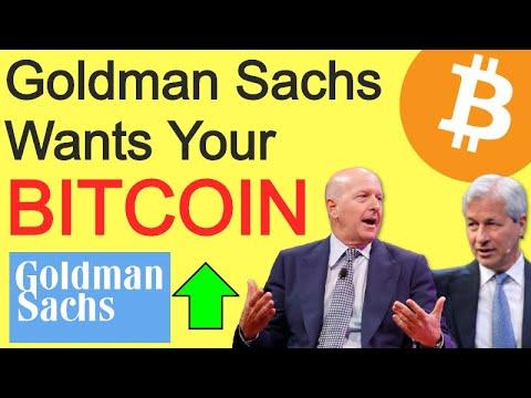 Goldman Sachs, JP Morgan & Wall Street Want Your Bitcoin & Crypto!