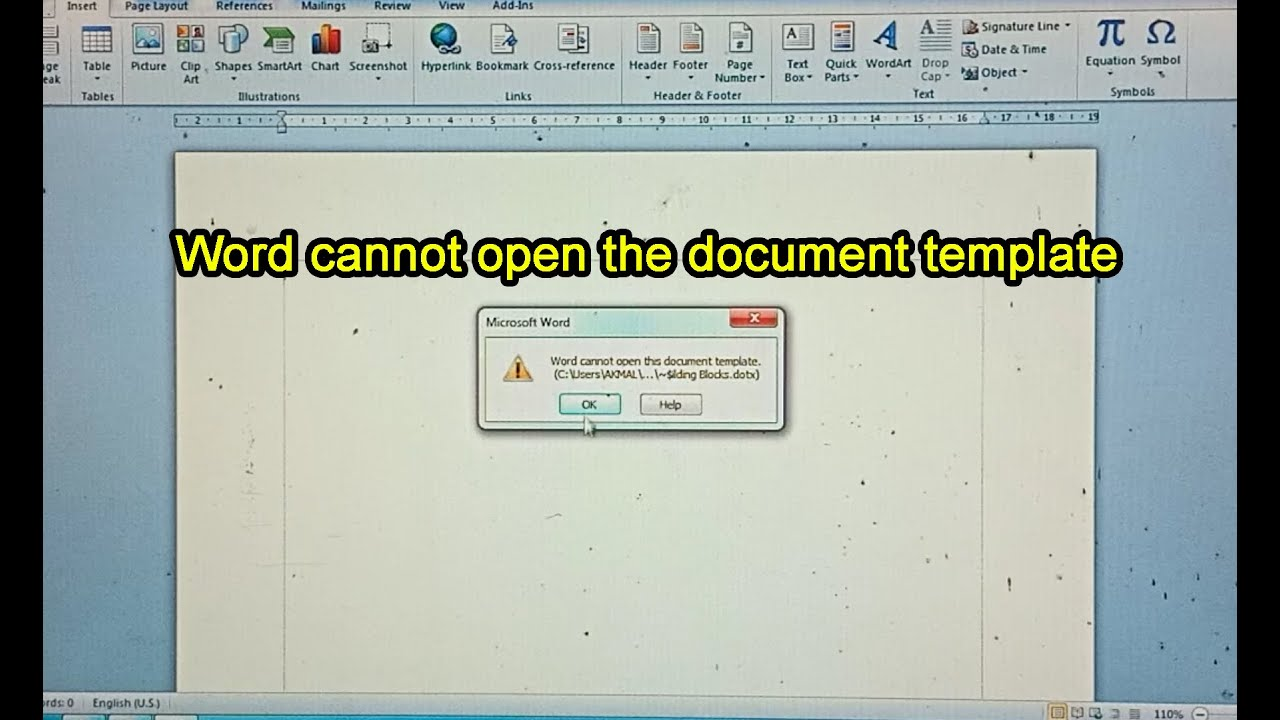 cara mengatasi word cannot open the document template