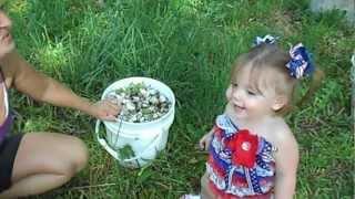 Emily Helping Grandma pull weeds