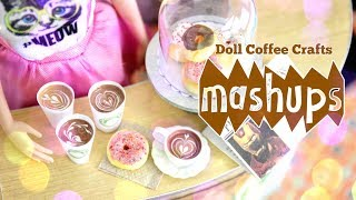Mash Ups:  Doll Coffee Crafts - Coffee Shop | Coffee Dispenser | Doll Latte and More