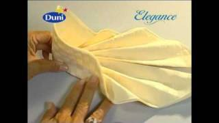 Napkin folding from Duni - Asia