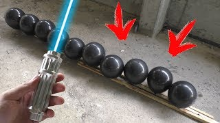 10000 mW Power Laser vs 10 Balloons in a Row!!!
