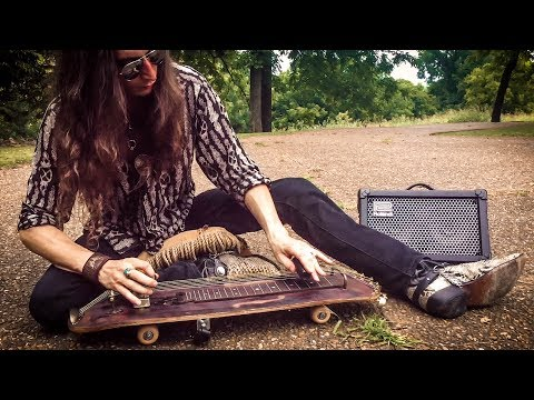 SKATEBOARD SLIDE GUITAR!  |  Performed by Justin Johnson