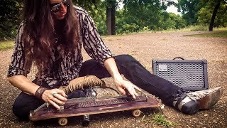 skateboard slide guitar performed by justin johnson