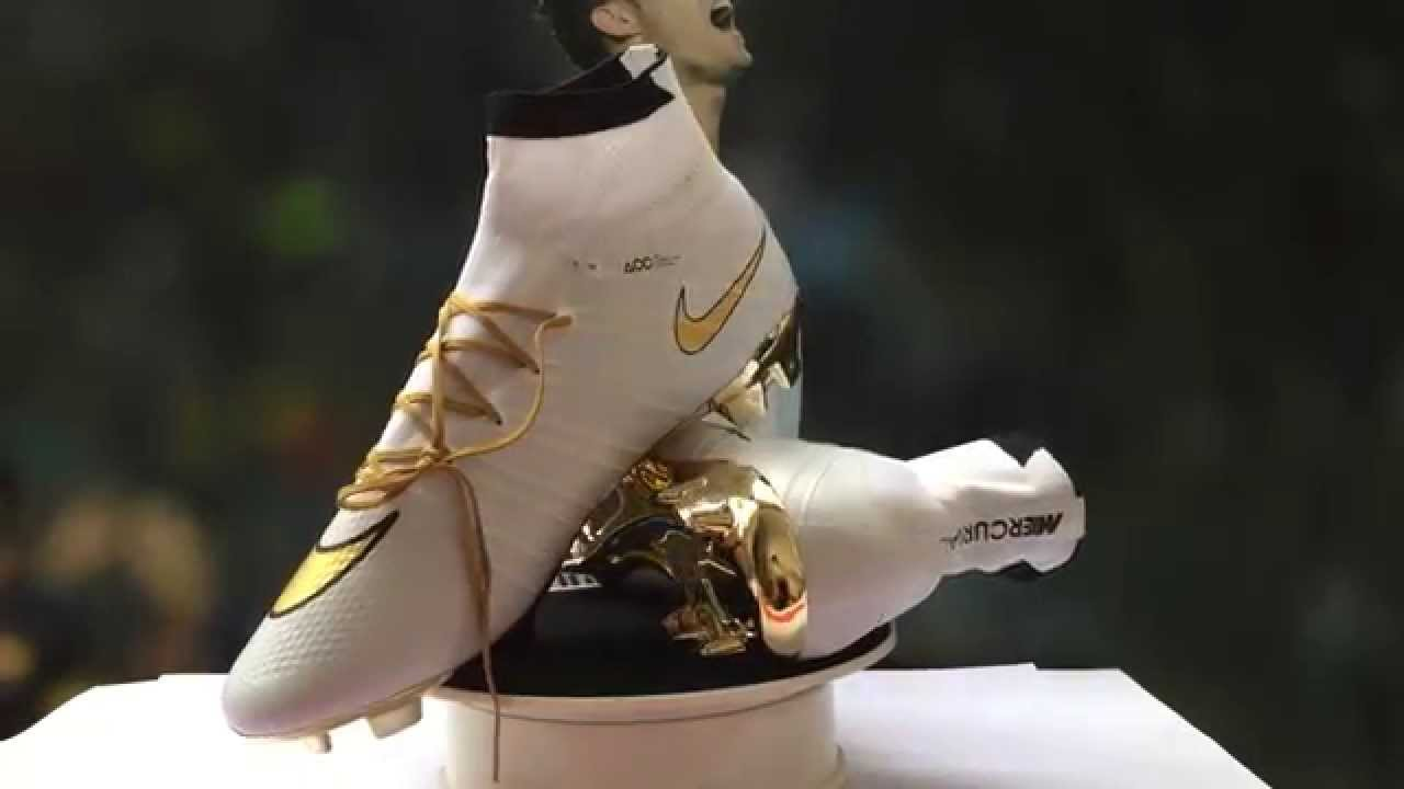 super popular edcfd 32552 kids cr7 cleats gold white